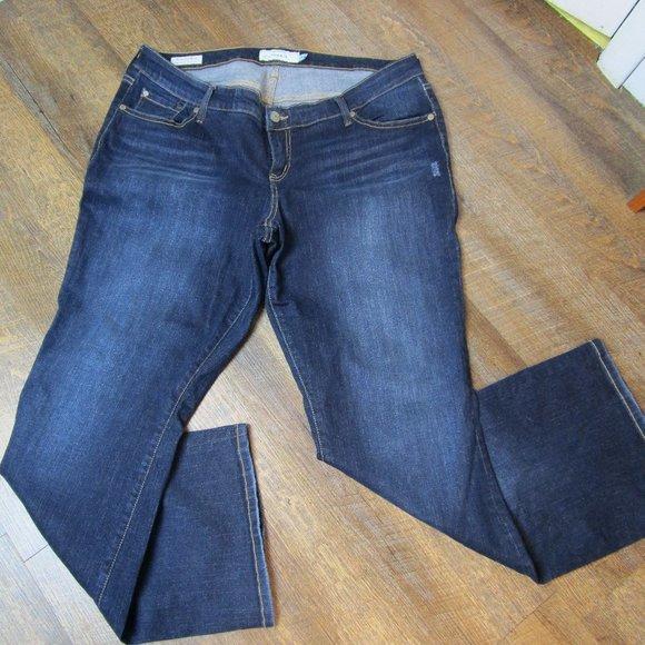 torrid Denim - Torrid Relaxed Boot dark wash distress fading jean